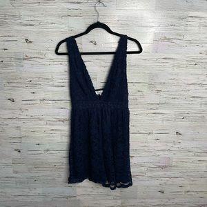 Oh my love blue lace dress mini size medium